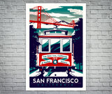San Francisco Cable Car Screen Print