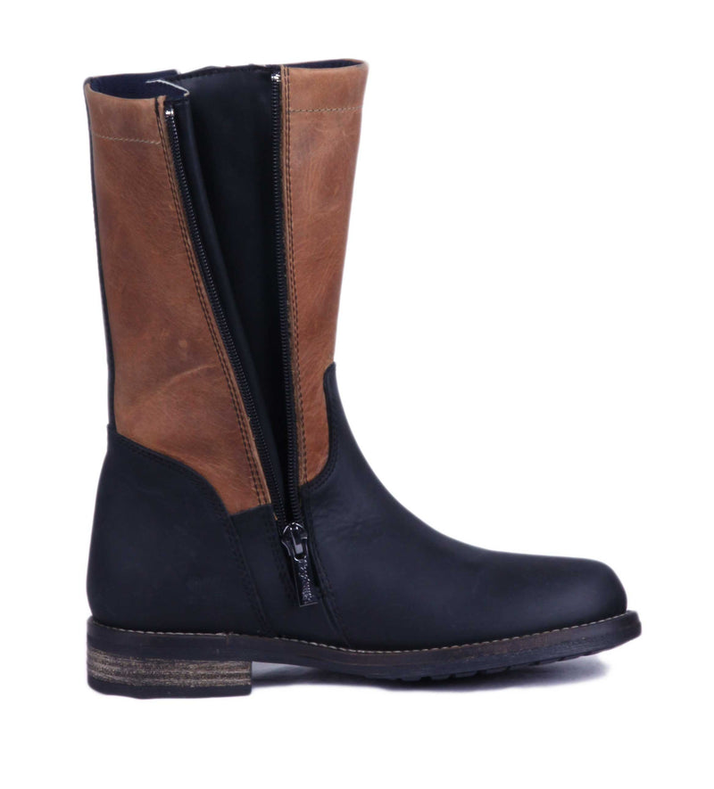 Oslo Outdoor Boot - Gaucho Black & Brown