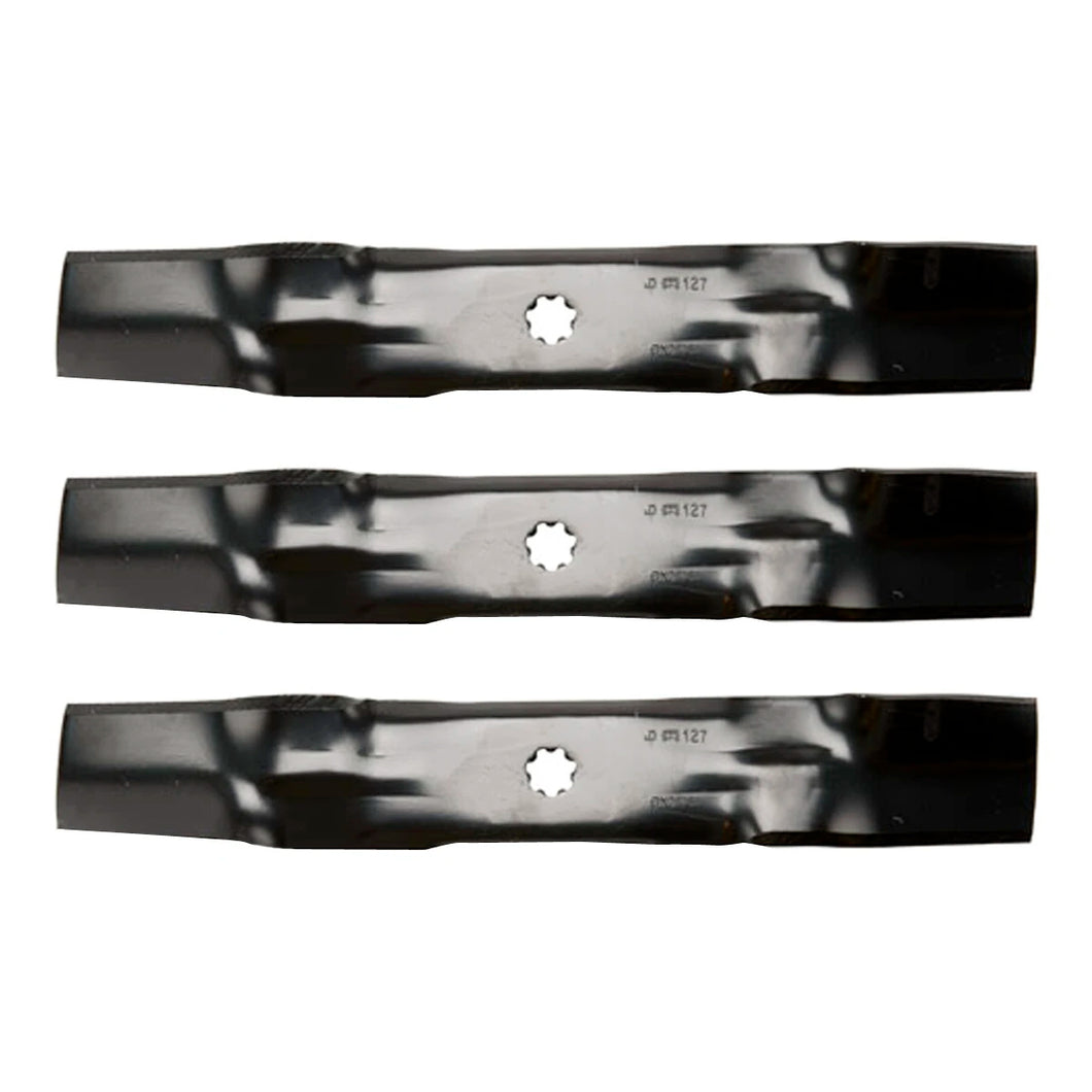 Lawn Mower Blade Set for 100, D, E, LA, X100, Z200 and Z300 Series with 48
