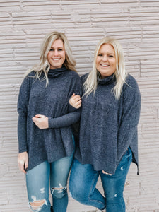 Holiday Snuggles Sweater in Navy