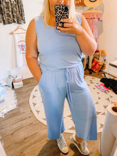 Load image into Gallery viewer, THE Cropped Jumpsuit - Sky Blue