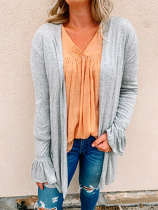 Simply Clever Ruffle Sleeve Cardigan