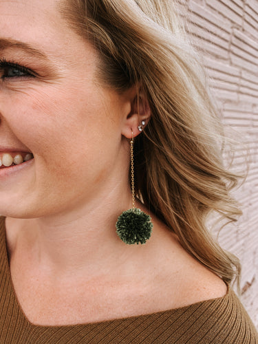 Kelly Green Pom Earring