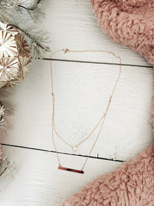 Paislee Bar Necklace