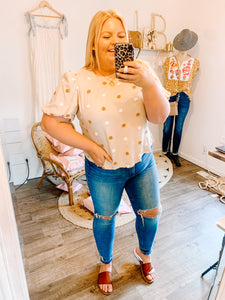 Mollie Polka Dot Top