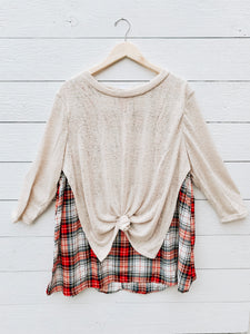 Wendy Plaid Top