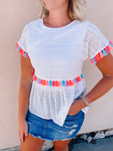 Load image into Gallery viewer, It's A Summer Day Tassel Top