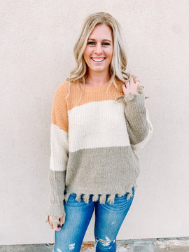Needless To Say Distressed Sweater