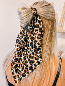From This Moment Hair Scarf in Leopard