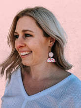 Load image into Gallery viewer, Valentine Leopard Clay Earring