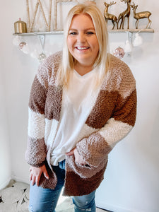 Hot Cocoa, Please Popcorn Cardigan in All Sizes
