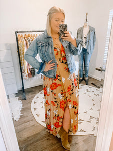Won't You Stay Floral Maxi Dress