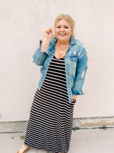 Load image into Gallery viewer, Just My Type Stripe Maxi Dress