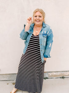 Just My Type Stripe Maxi Dress