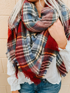 Leaves Are Falling Blanket Scarf