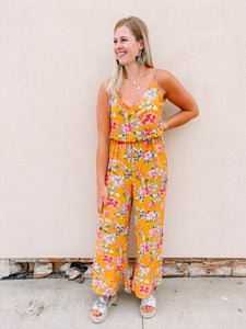 All In Floral Jumpsuit