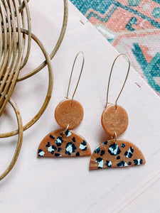 Leopard Earring - Copper