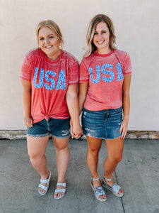 USA Burnout Tee
