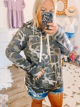 Load image into Gallery viewer, Camo Hoodie Sweatshirt