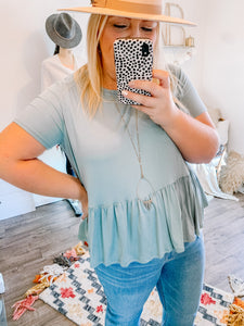 Keeping Along Baby Doll Top