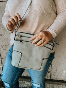 Twice As Good Crossbody In Grey