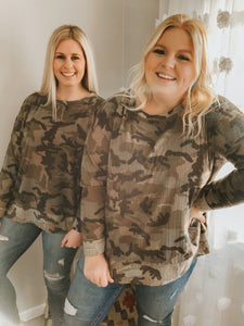 It's Called Casual Camo Top
