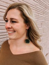 Load image into Gallery viewer, Kelly Green Pom Earring