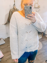 Load image into Gallery viewer, All About The Silver Lining Sweater
