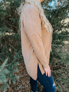 Warm & Cozy Cowl Neck in Camel