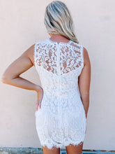Load image into Gallery viewer, Claire Lace Dress - White