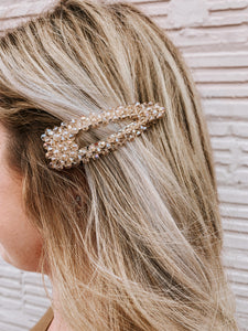 Glitz & Glam Hair Clip In Champagne