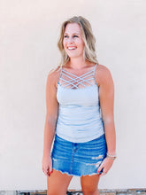 Load image into Gallery viewer, Grey Layering Cami (Small-3x)