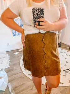 It's All Good Scallop Skirt
