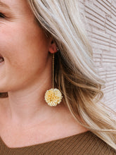 Load image into Gallery viewer, Yellow Pom Earring