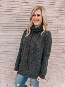 Merry & Bright Cowl Neck in Black