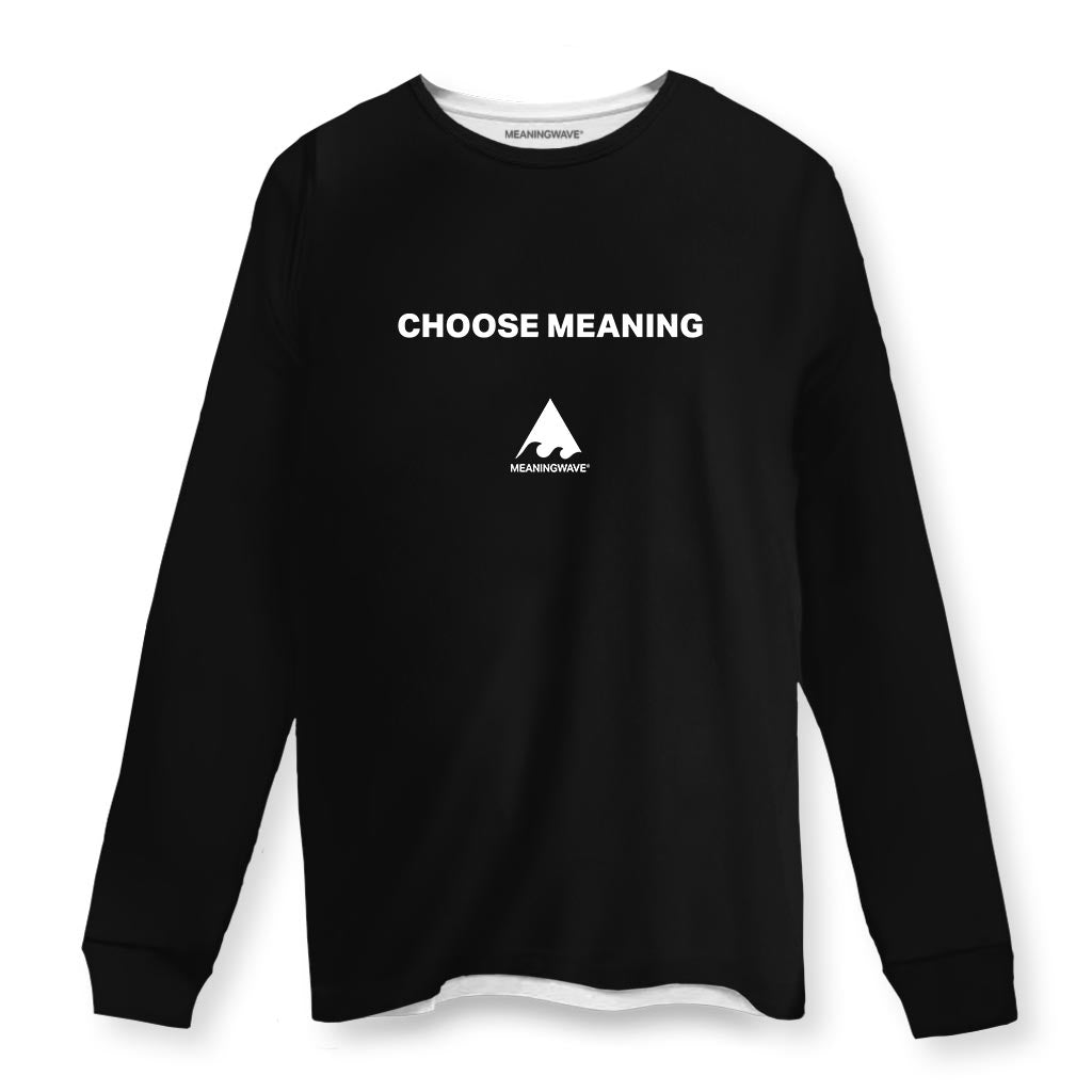 CHOOSE MEANING Long Sleeve Cotton Shirt