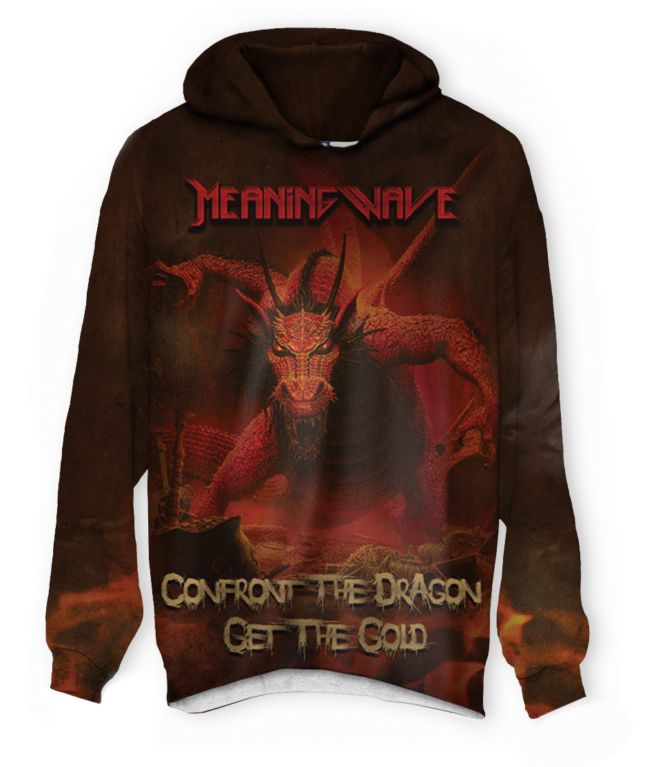Meaningwave - Confront The Dragon Lightweight Hoodie