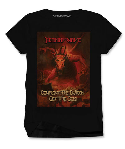 Meaningwave - Confront The Dragon Men's Cotton T-Shirt