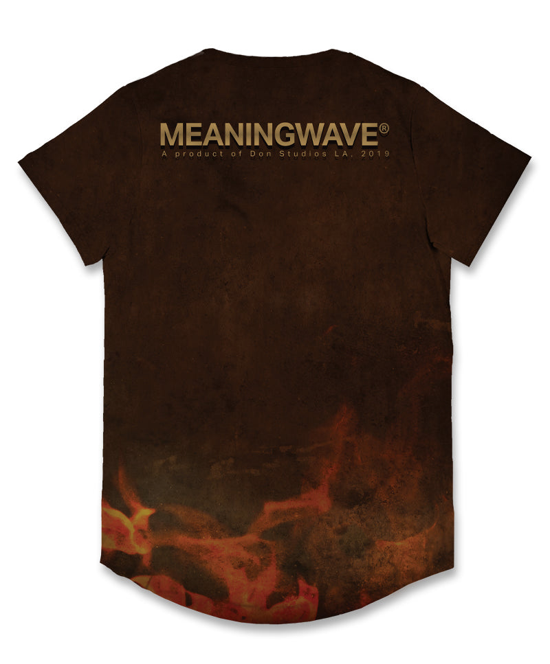 Meaningwave - Confront The Dragon Men's Scoop T-Shirt