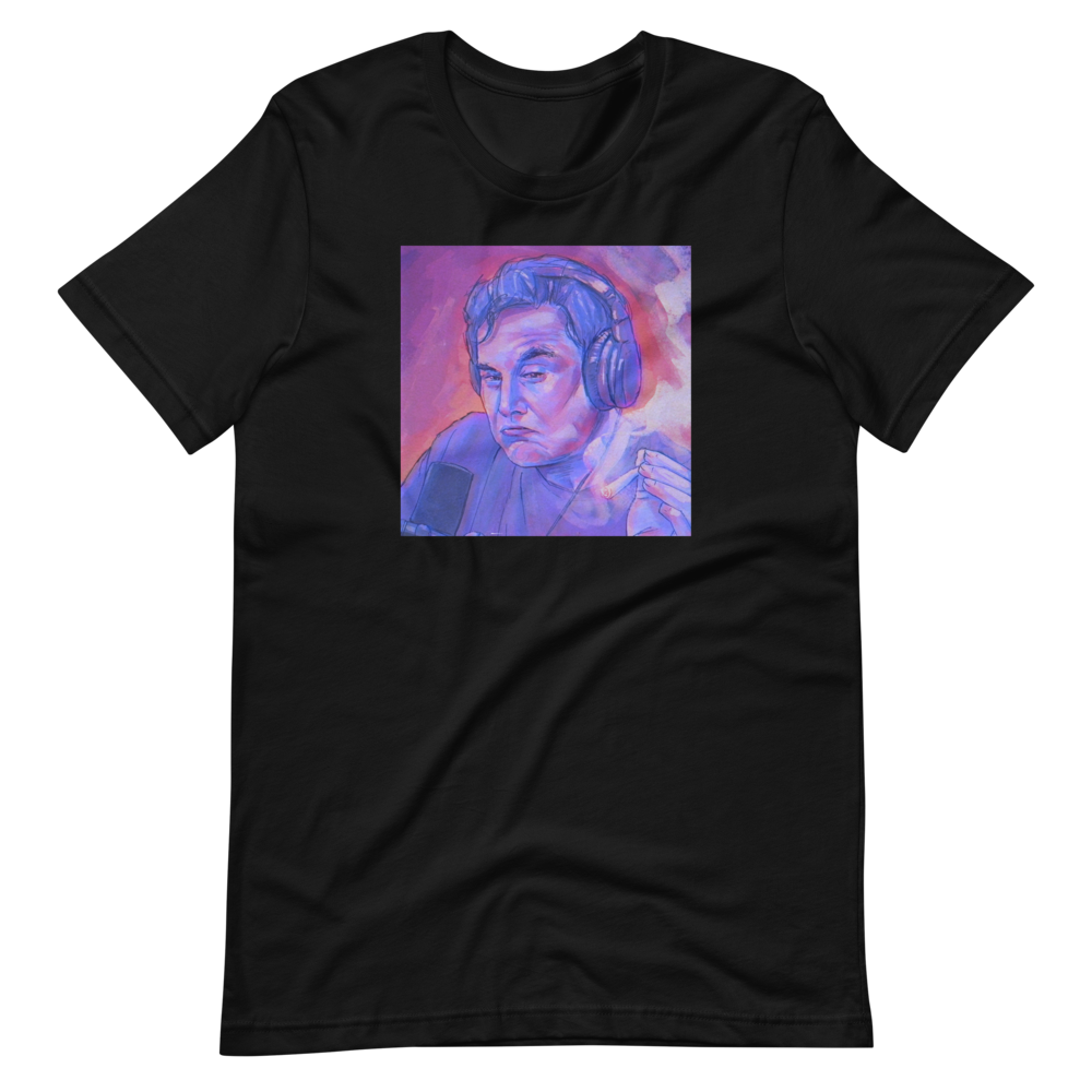 Elon Musk ELON: A SPACE ODYSSEY Cotton Crew Tee | In black & white