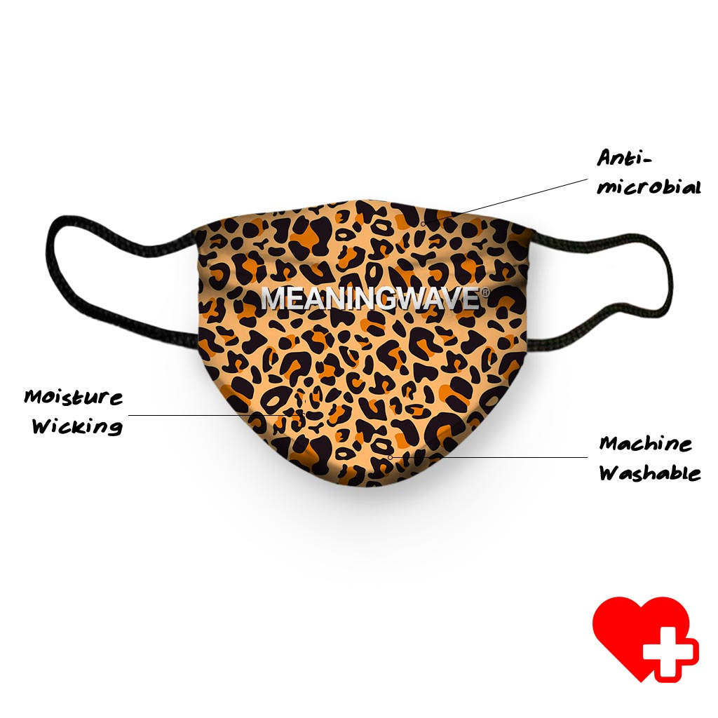 Meaningwave Leopard Face Cover
