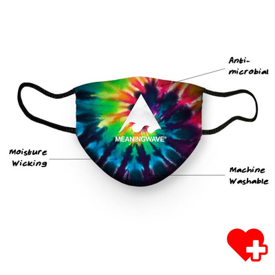 Meaningwave Tyedye Face Cover
