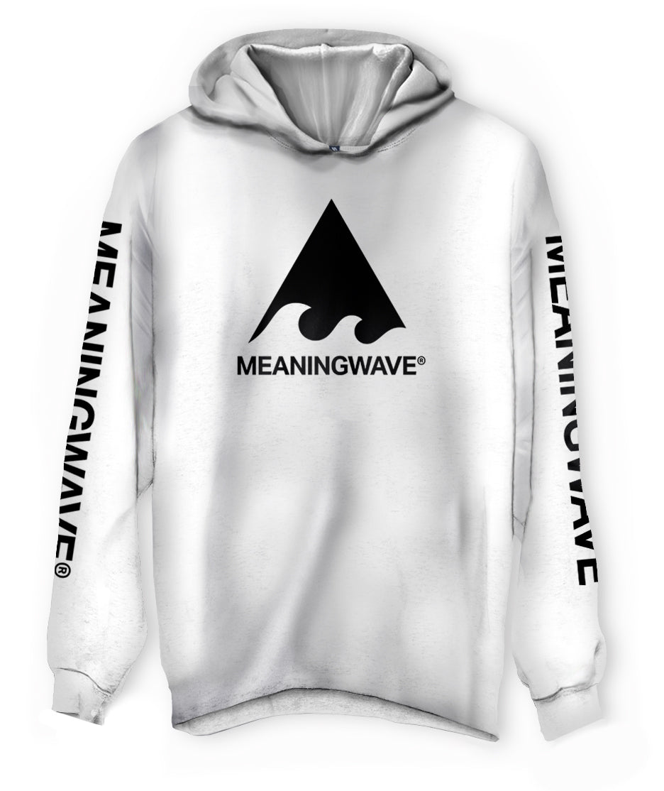 Meaningwave - BLACK Logo Classic Lightweight Hoodie