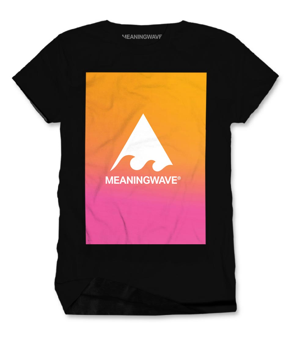Meaningwave Sunset Men's Cotton T-Shirt