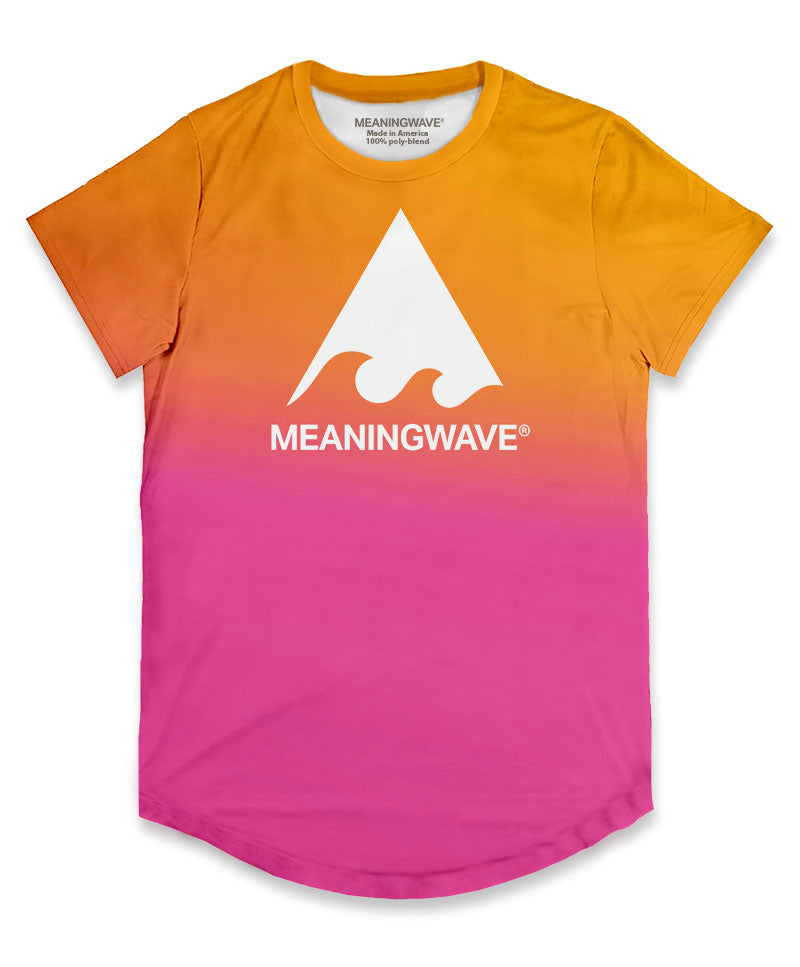 Meaningwave Sunset Men's Scoop T-Shirt