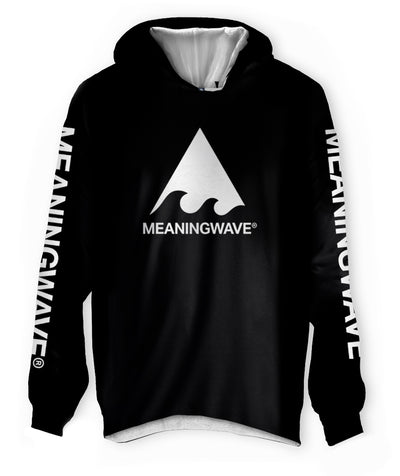 Meaningwave - WHITE Logo Classic Lightweight Hoodie