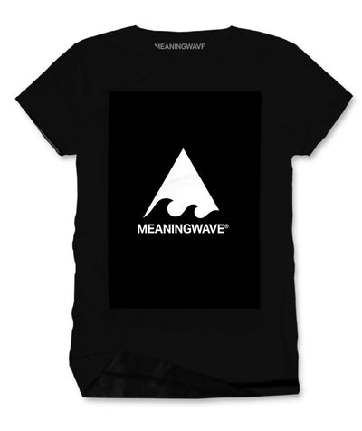 Meaningwave - WHITE Logo Classic Men's Cotton T-Shirt