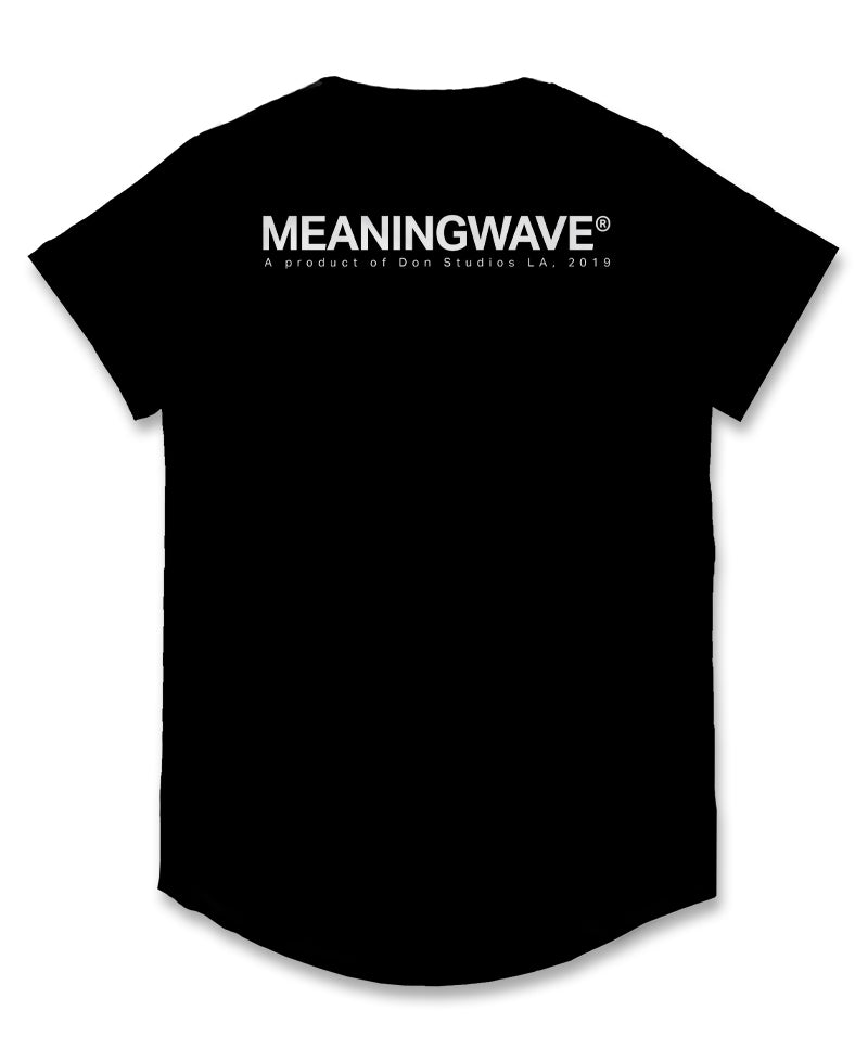 Meaningwave - WHITE Logo Classic Men's Scoop T-Shirt