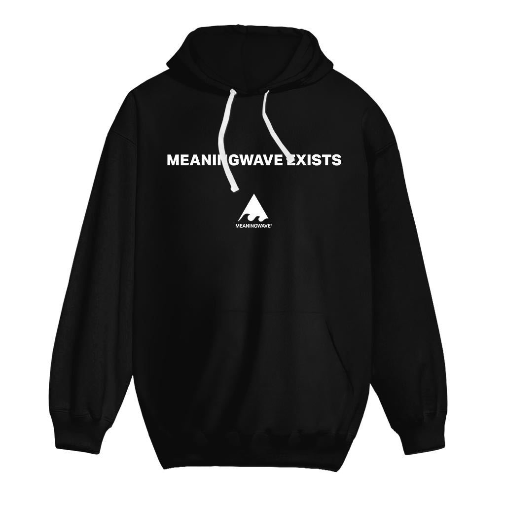 MEANINGWAVE EXISTS Cotton Hoodie