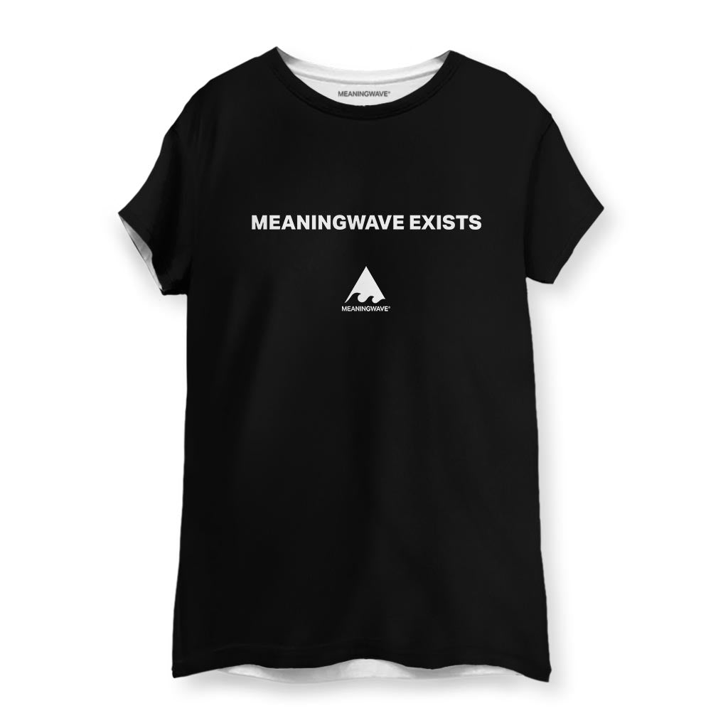 MEANINGWAVE EXISTS Women's Cotton T-Shirt